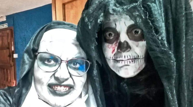 Terro con niños en halloween