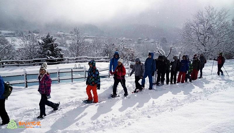 actividades de nieve en familia